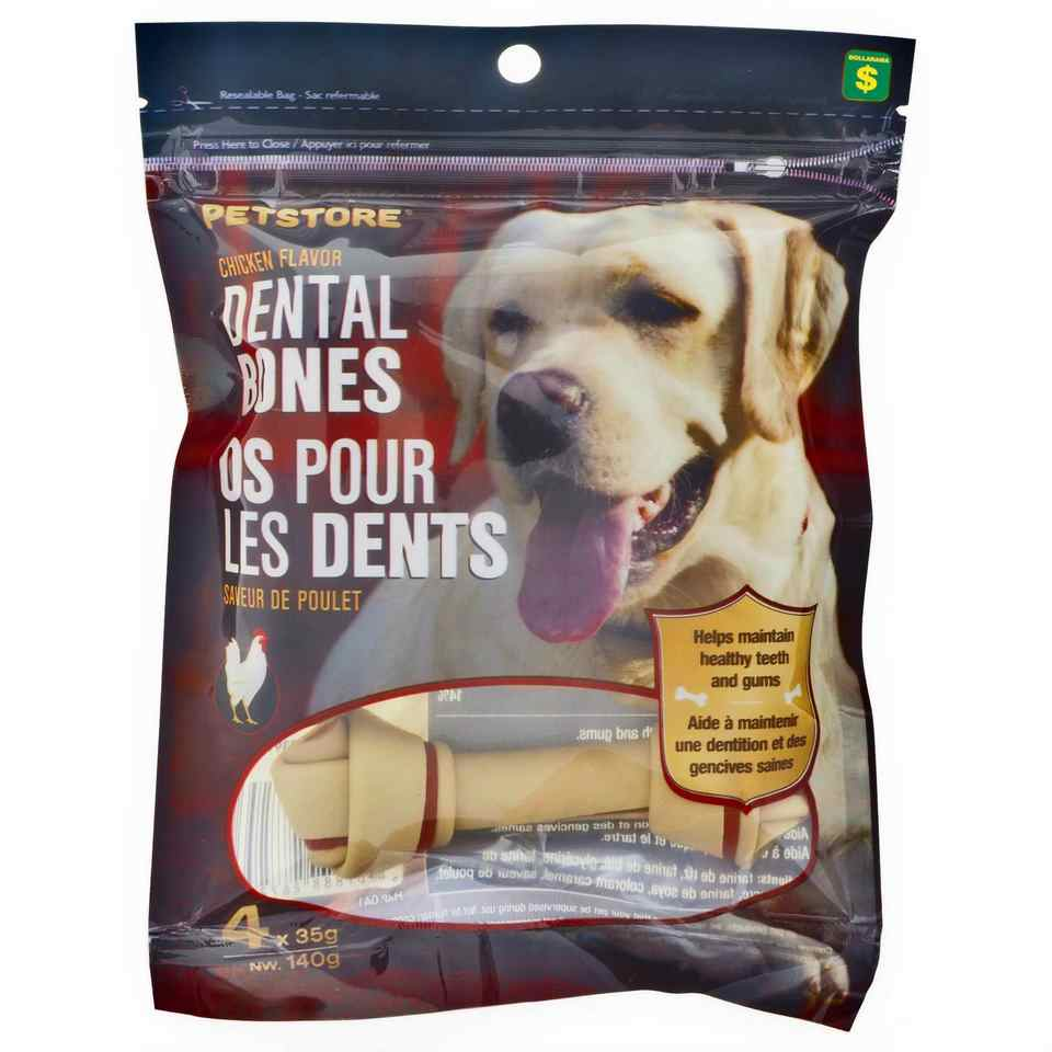 Chicken Flavor Dental Bones 4PK