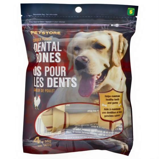 4 Chicken flavor Dental Bones