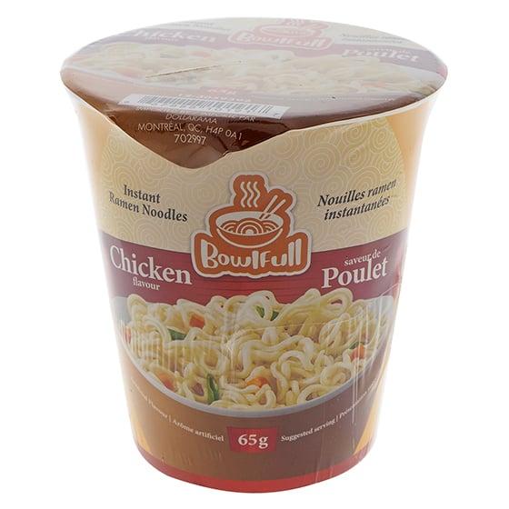 Soupe aux nouilles instantanée, Saveur de poulet