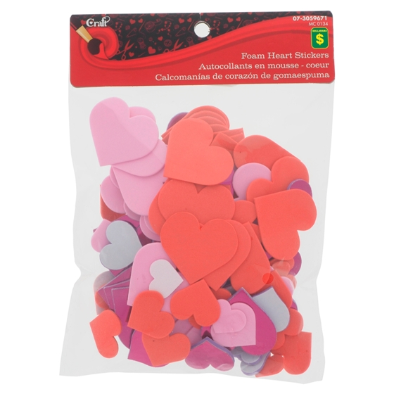 Foam Heart Stickers 108PK