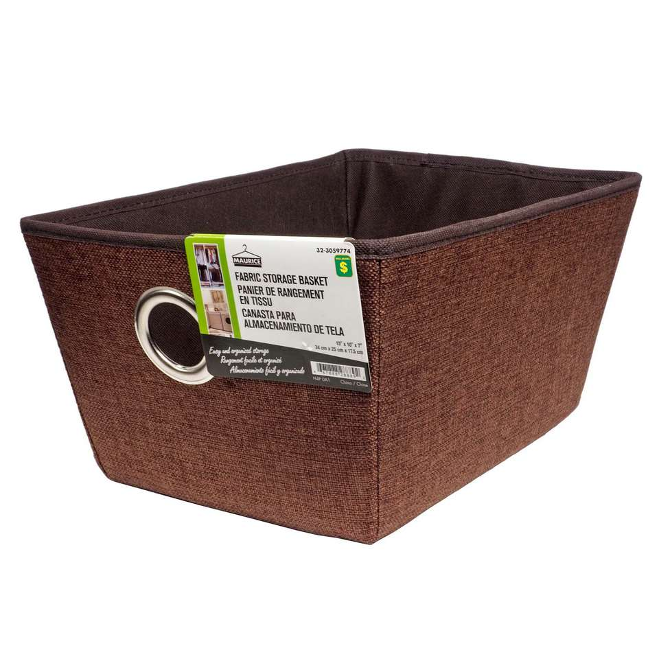 Small Fabric Storage Basket with Eyelet (Assorted colours)