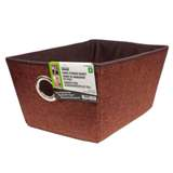 Small Fabric Storage Basket with Eyelet - 0