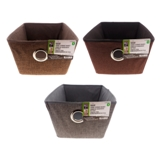 Small Fabric Storage Basket with Eyelet - 2