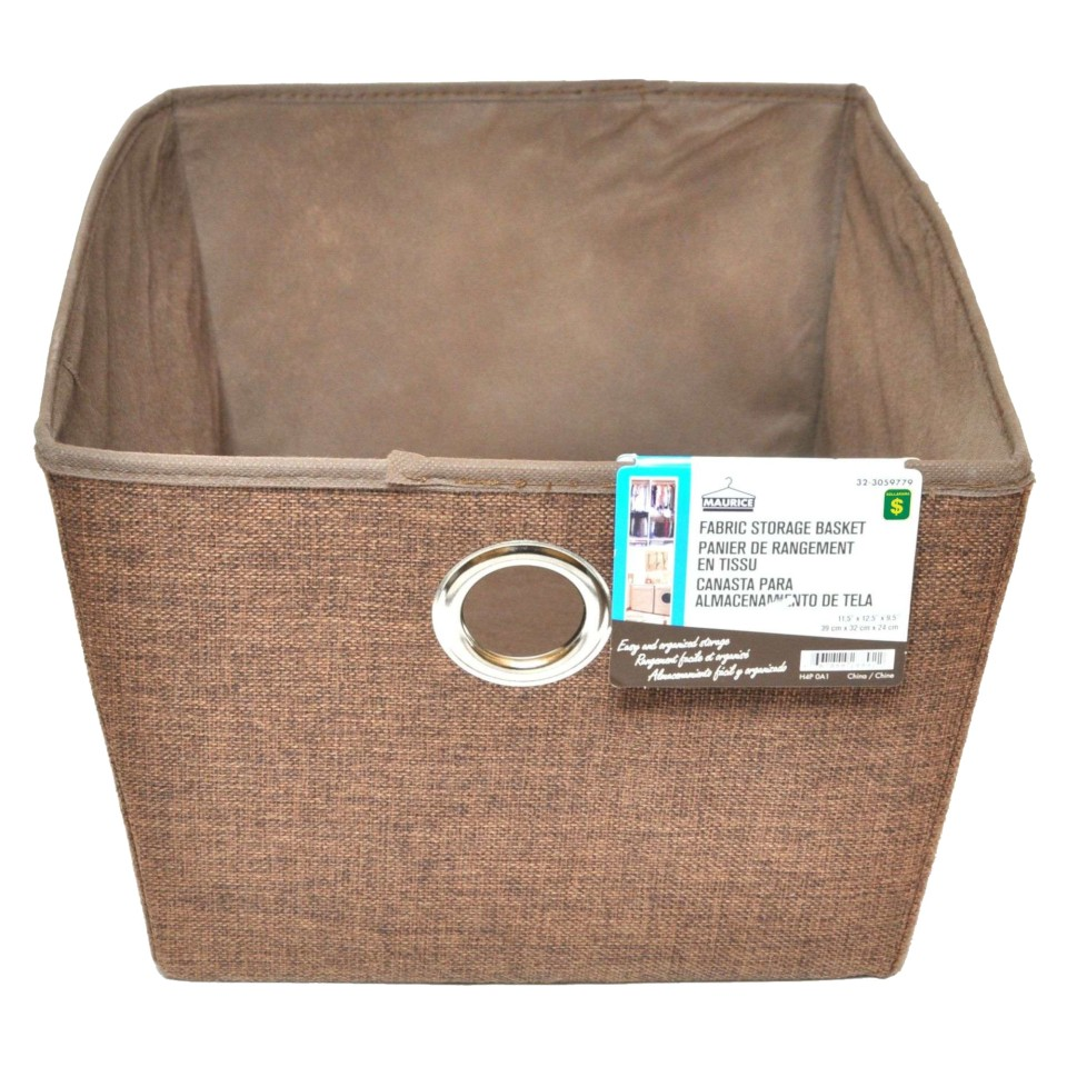 Large Fabric Storage Basket with Eyelet (Assorted Colours)