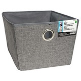 Large Fabric Storage Basket with Eyelet (Assorted Colours) - 2