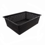 Rectangular Plastic Woven Basket (Assorted colours) - 0