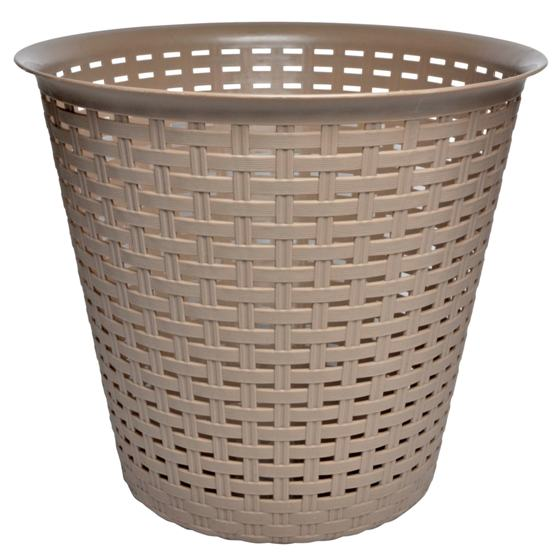Round Plastic Woven Waste Basket (Assorted colours)