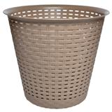 Round Plastic Woven Waste Basket (Assorted Colours) - 0