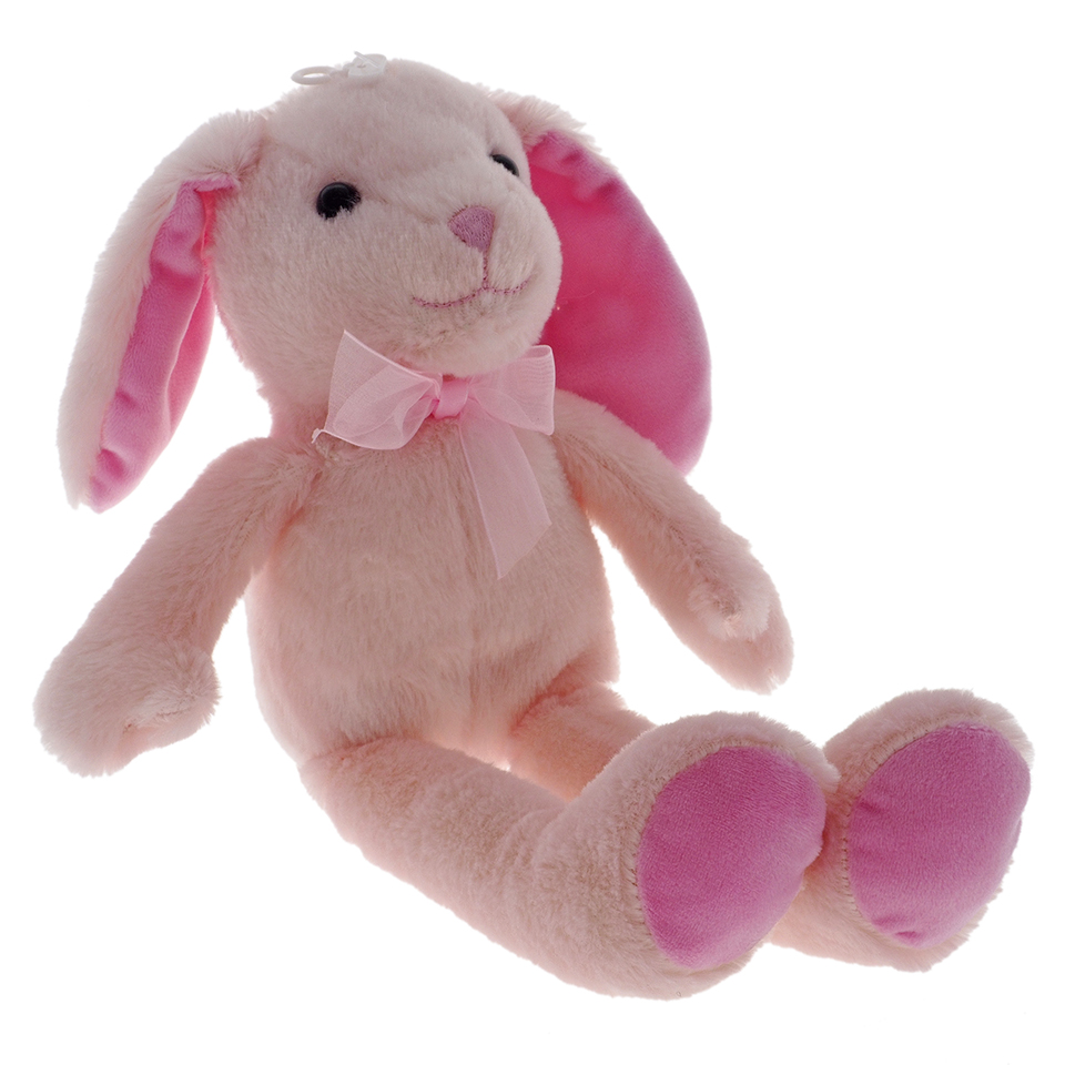 Peluche de lapin (couleurs assorties)