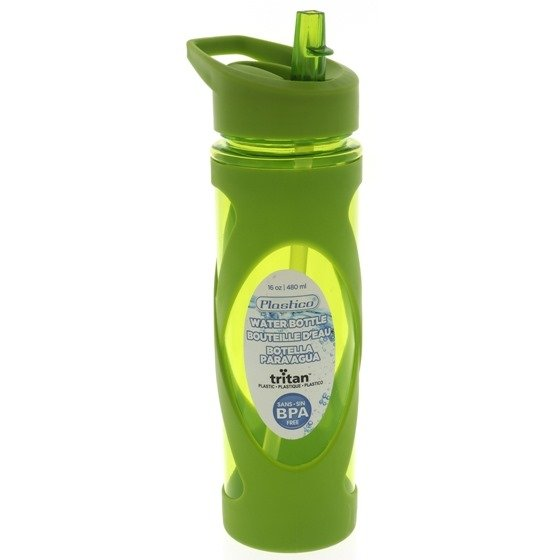 Water Bottle with Straw & Handle