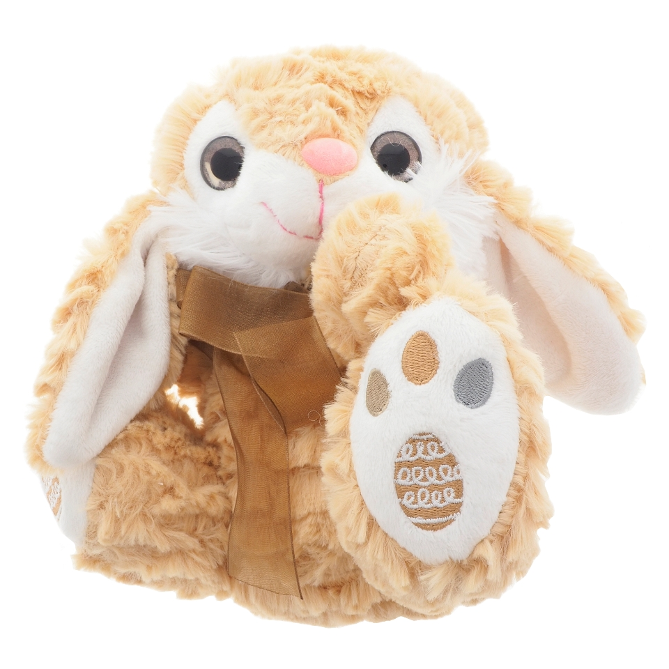 Easter plush bunny with embroided feet
