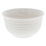 Floral Embossed White Bowl (Assorted Designs) - 0