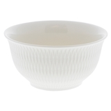 Floral Embossed White Bowl (Assorted Designs) - 2