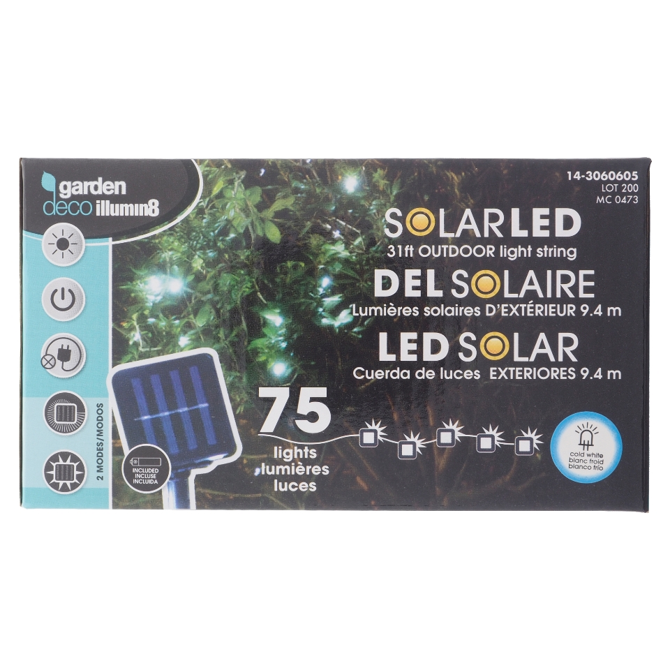75 Guirlandes lumineuses solaires