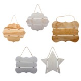 Wooden Decorative Slat (Assorted shapes) - 1