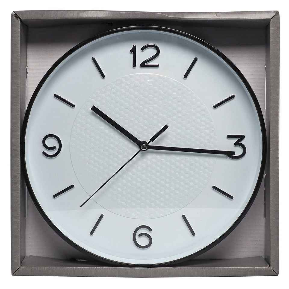Wall Clock with Geometric Pattern