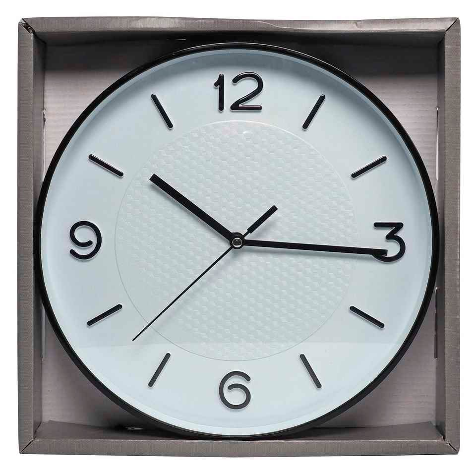 Wall Clock with Geometric Pattern (Assorted colours)
