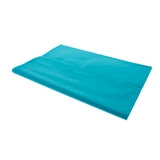 Rectangular Teal blue Plastic Table Cover - 1