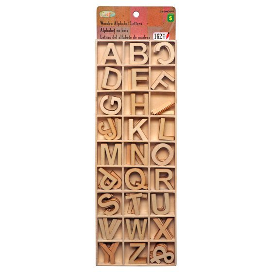 162pc Wooden Alphabet Letters