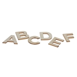 162pc Wooden Alphabet Letters - 1
