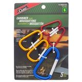 5PK Aluminum Camping Carabiner Set - 0