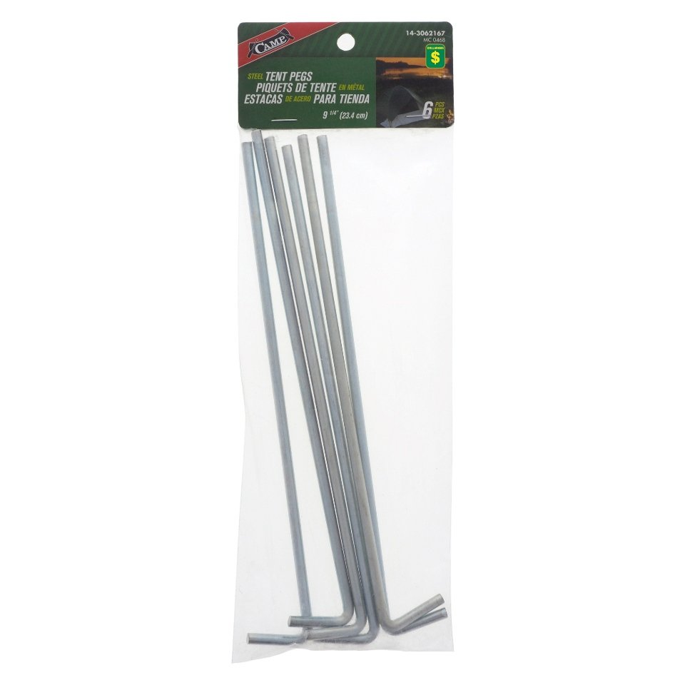 6PK Tent Steel Stakes