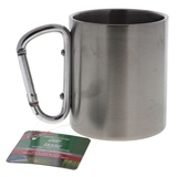 Stainless Steel Camping Cup W/ Aluminum Carabiner Handle - 0