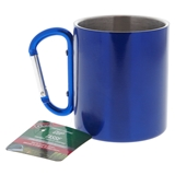 Stainless Steel Camping Cup W/ Aluminum Carabiner Handle - 1