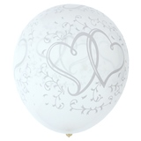 8PK Wedding Printed Balloons w/Ribbon (Assorted Designs) - 1