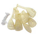 8PK Wedding Printed Balloons w/Ribbon (Assorted Designs) - 3