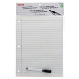 Magnetic Dry Erase Board W/Ruled Sheet Look And Pen - 0