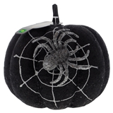 Glittered Pumpkin with Spider Web and Spider - 0