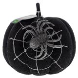 Citrouille scintillante avec toile d'araignée et araignée - 0