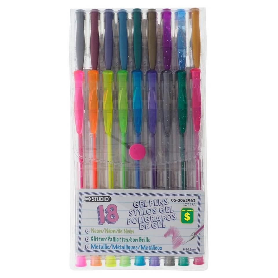 18PK Gel Pens