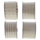 Wedding Pearl Style Ribbon on a Spool (Assorted Designs) - 2