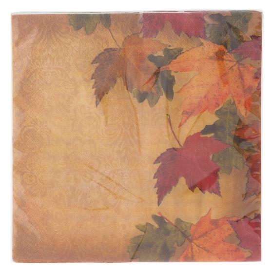 Paquet de 16 serviettes de table à motifs d'automne