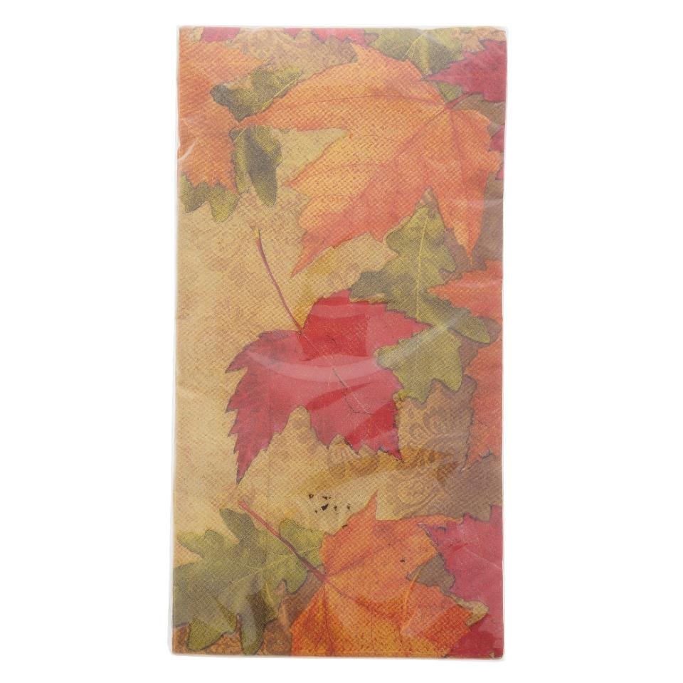 Paquet de 14 petites serviettes de table à motifs d'automne
