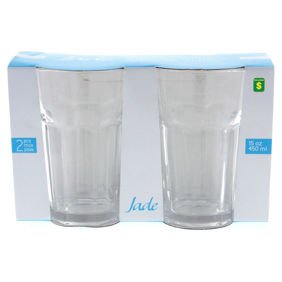 2PK Clear Glass Tumblers