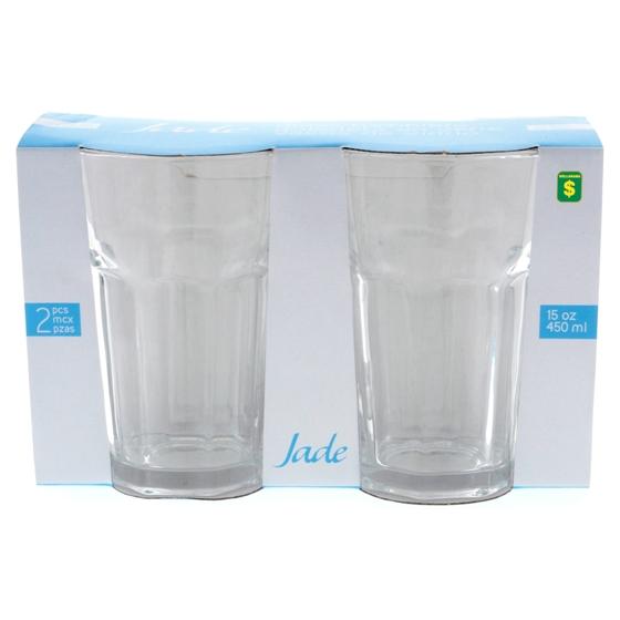 2PK Clear Glass Tumblers