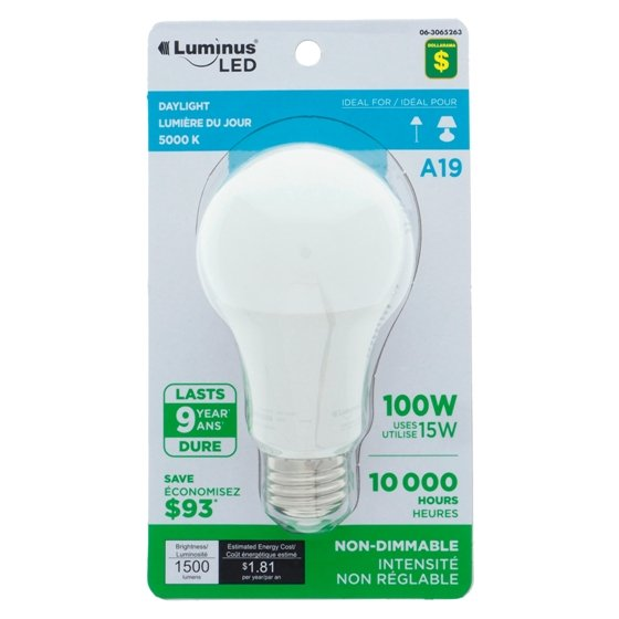 A19 100W LED Day Light Bulb