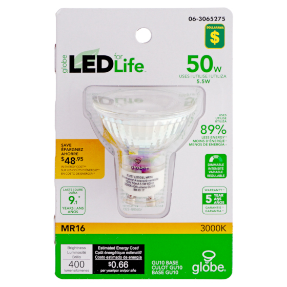 MR16 50W LED 3000K Light bulb