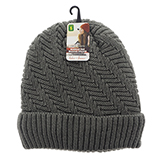 Ladies knitted hat with sherpa lining - 0