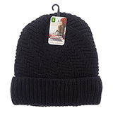 Ladies knitted hat with sherpa lining - 1