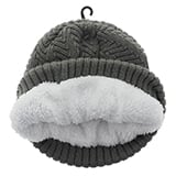Ladies knitted hat with sherpa lining - 3