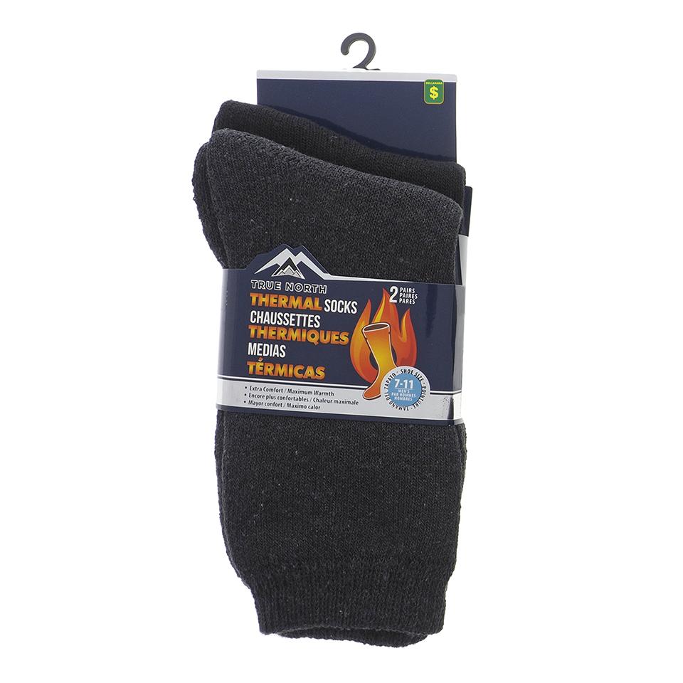 Paquet de 2 paires de chaussettes thermiques pour homme