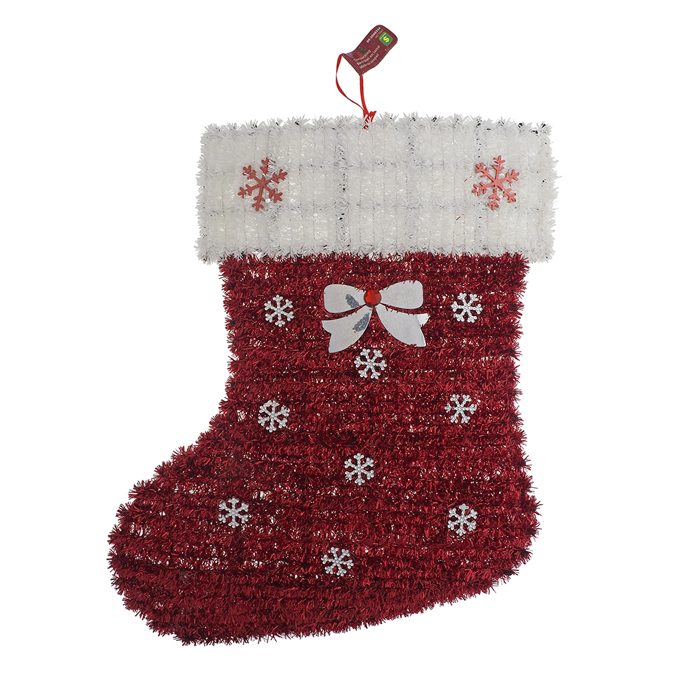 Large Tinsel Wall Decoration Santa Hat/Stocking-Unscripted