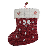 Large Tinsel Wall Decoration Santa Hat/Stocking-Unscripted - 0