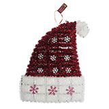 Large Tinsel Wall Decoration Santa Hat/Stocking-Unscripted - 1