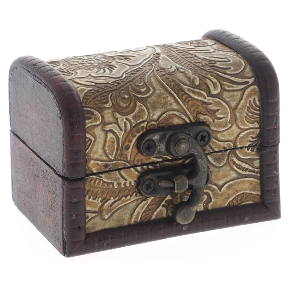 Small Wooden Jewelery Box (Assorted styles)