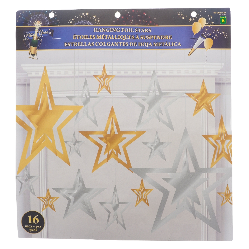 Paquet  de 16 étoiles scintillantes